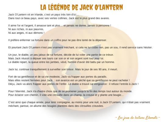 La légénde de Jack O'Lantern