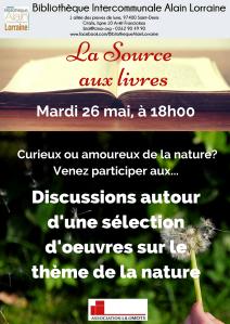 Affiche 26 Mai -  LA SOURCE AUX LIVRES